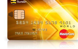 Основные способы оплаты счета Билайн картой