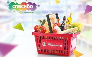 """Порядок оплаты товаров в Пятерочке бонусами """"Спасибо"""" от Сбербанка"""