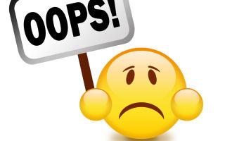Возможные технические ошибки при работе с кошельком Qiwi