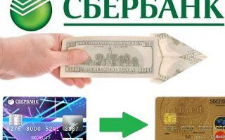 Порядок перевода денег с кредитной карты Сбербанка на карту Сбербанка