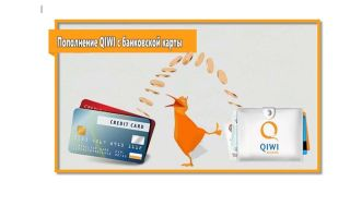 Порядок пополнения Киви кошелька с банковской карты