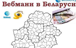 Доступные способы пополнения денег на Вебмани в Беларуси