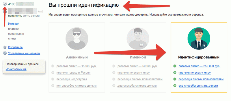 Идентификация Яндекс