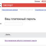Платежный пароль в Яндекс.Деньги
