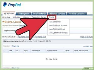 Верификация держателя карты Paypal