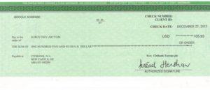Как вывести деньги чеком