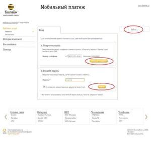 Мобильный платеж от Билайн