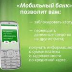 Управление услугой Мобильный Банк