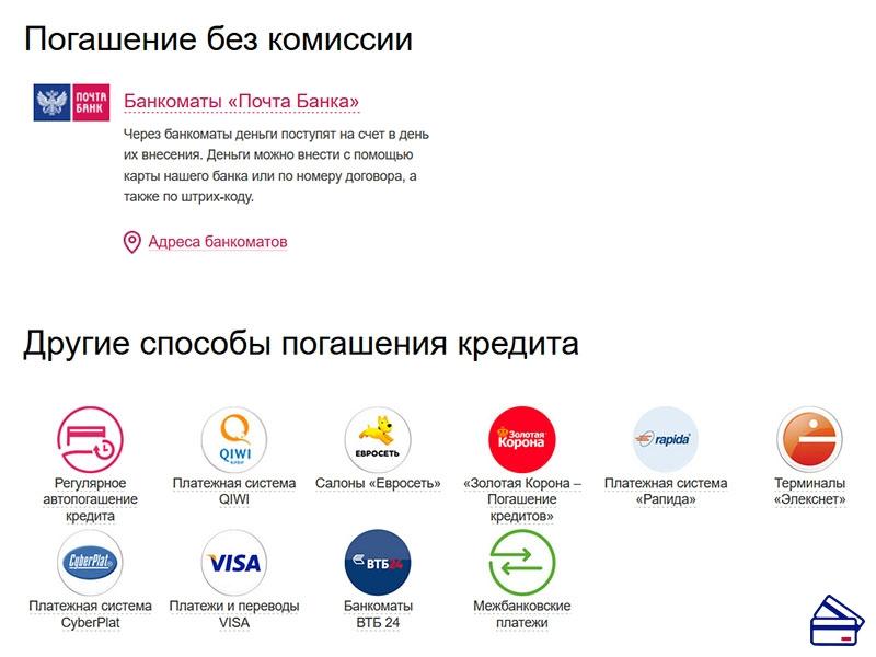 как оплатить кредит почта банк через втб 24 как рассчитать кредит в сбербанке калькулятор онлайн в 2020 году